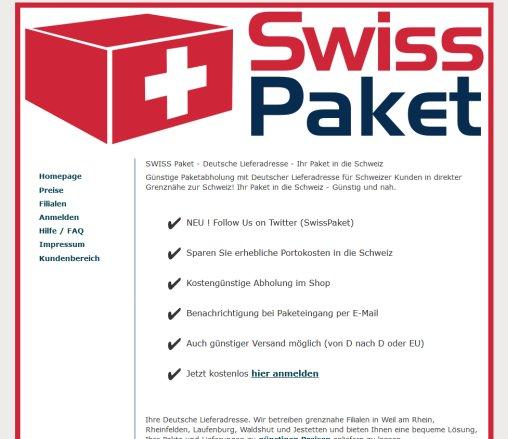 Deutsche Lieferadresse Paket In Die Paket Laufenburg