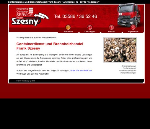 Abfallentsorgung Mit Containern Ankauf Containerservice Friedersdorf