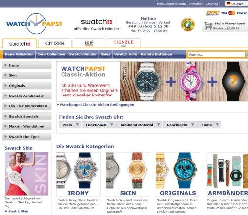 5a87914737 Offizieller Swatch Uhren Online Shop › Swatch Fulda