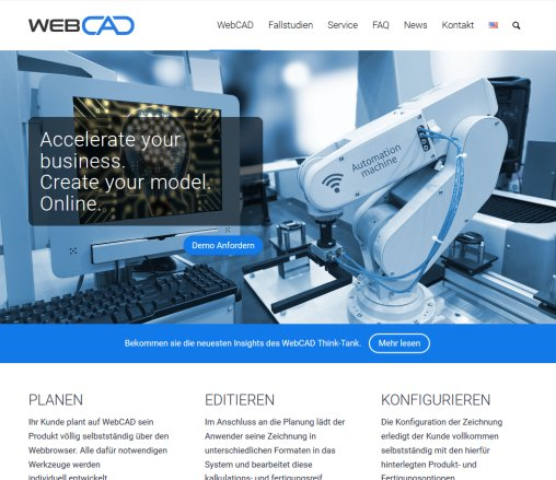WebCAD - Accelerate your business. Create your model. Öffnungszeit