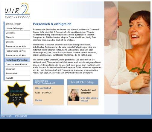 Partnertreff Partnervermittlung Wir2 in Köln Wir2 Partnertreff e.K. Öffnungszeit