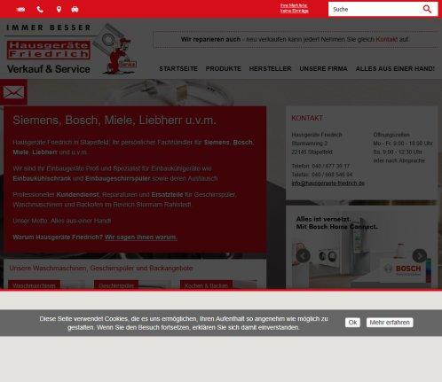 Siemens Miele Liebherr Kundendienst Ersatzteile Miele Stapelfeld