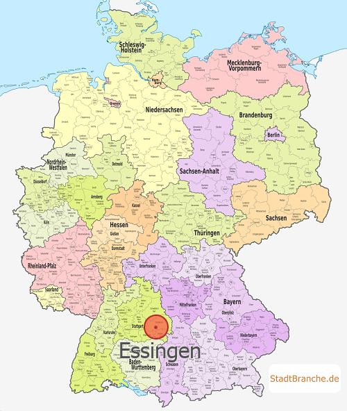 Ostalbkreis Karte.Essingen Ostalbkreis Baden Württemberg
