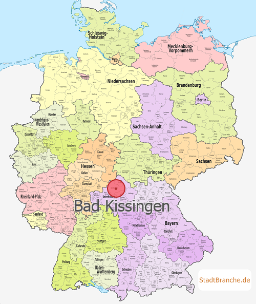 Bad Kissingen Karte Landkreis Bad Kissingen Bayern