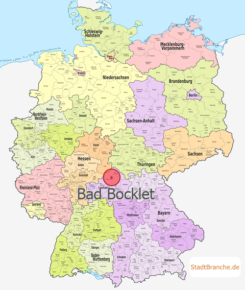 Bad Bocklet Karte Landkreis Bad Kissingen Bayern