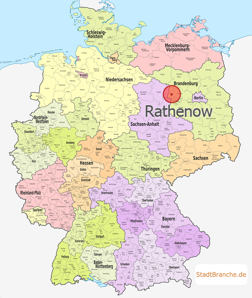 Rathenow Karte Landkreis Havelland Brandenburg