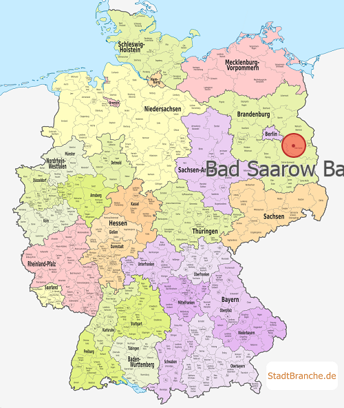 Deutschlandkarte mit Bad Saarow Bad Saarow