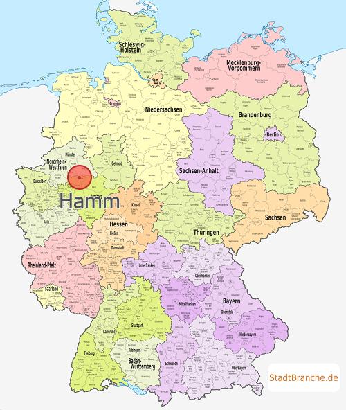 Hamm Karte.Hamm Kreisfreie Stadt Hamm Nordrhein Westfalen